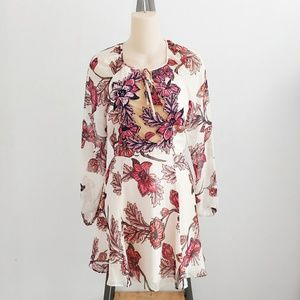For Love of Lemons Sierra Mini Floral Silk Dress